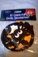 Pack of 10 Halloween swirl decorations (Code 3829)